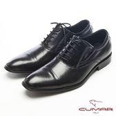 CUMAR都會型男-經典品味真皮皮鞋-黑