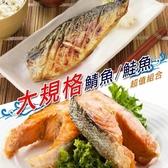 【南紡購物中心】【賣魚的家】大規格鮭/鯖超值(鮭*6+鯖*6) 共12片組