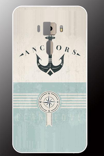 ♥ 俏魔女美人館 ♥ ASUS ZenFone 3 {海軍風 *水晶硬殼} 手機殼 手機套 保護殼