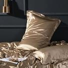夏季蠶絲枕套單人冰絲真絲枕套桑蠶絲綢緞純色枕頭枕巾套 安妮塔小鋪