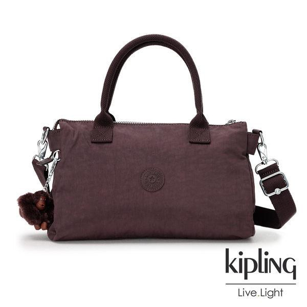 Kipling深紫羅蘭素面手提側背包(大)