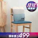 【1212-YAHOO獨家價】絢藍質紋低反彈腰墊-生活工場