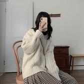 毛衣外套 毛衣外套女秋冬寬松外穿年新款粗針麻花針織開衫慵懶風上衣厚 風尚