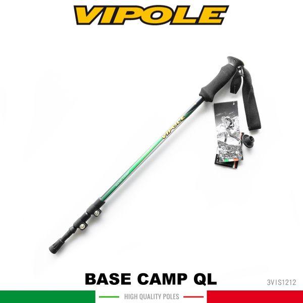 【VIPOLE 義大利 BASE CAMP QL 雙快調登山杖《綠》】S-1212 /手杖/爬山/健行杖★滿額送