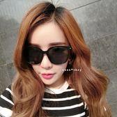 現貨-韓國潮大方框瘦臉彩膜太陽鏡女款復古個性男士墨鏡反光圓臉駕駛眼鏡102