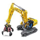 雙變挖土機 遙控電動積木 將牌JP38014