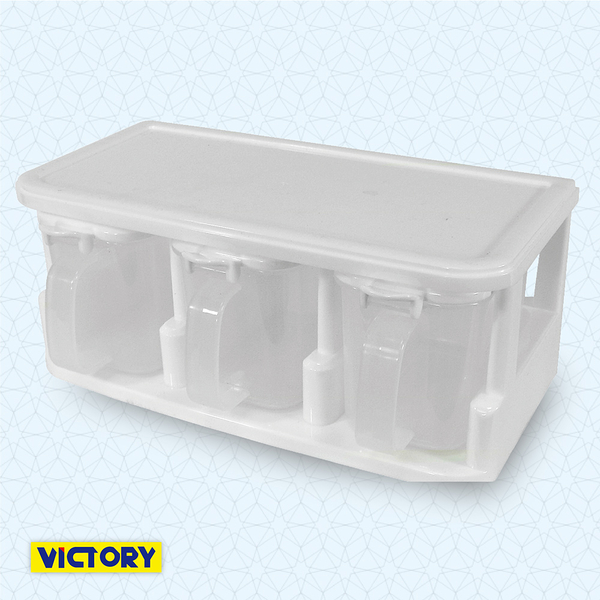 【VICTORY】三格收納調味盒380ml #1131001 調味瓶罐 調料瓶  調料盒