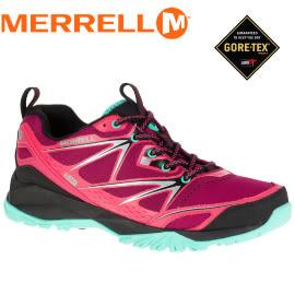 【MERRELL 美國 女款 CAPRA BOLT GORE-TEX 多功能健行鞋/紅】ML35454/休閒鞋/登山鞋/健行/運動鞋★滿額送