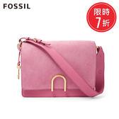 FOSSIL Finley 草莓牛奶 粉色柔軟麂皮x真皮時尚方包 ZB7455671