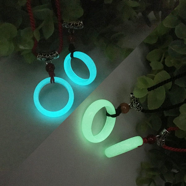夜光項鍊刻字鎖骨鍊熒光戒指環情侶項鍊兄弟閨蜜男女生日禮物【快速出貨】