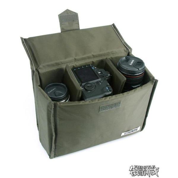 CADEN卡登內膽包單反攝影相機內膽包 單肩包雙肩背包內膽 收納包  街頭布衣