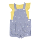 女寶寶吊帶褲套裝 吊帶短褲+蝴蝶袖T恤 二件組 藍直條   Carter s卡特童裝 (嬰幼兒/兒童/小孩)