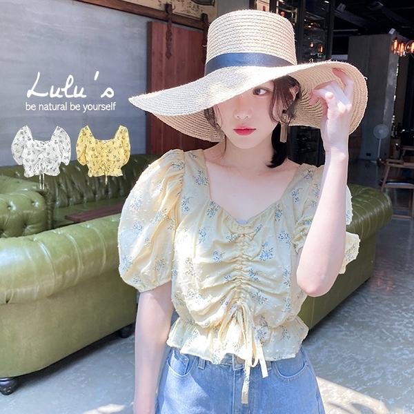 LULUS【A01200537】E碎花顆粒點點上衣2色