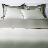 HOLA (組)雅緻天絲素色雙人床包組 暖褐