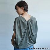 ❖ Summer ❖ 後背扭結蝙蝠袖圓領上衣 - AMERICAN HOLIC