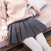 百褶裙秋冬女2018新款韓版裙子冬季女格子學生毛呢高腰半身裙短裙 挪威森林