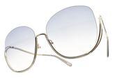 Chloe 太陽眼鏡  CE125S 734 (銀-漸層藍鏡片) 歐美金屬半框  # 金橘眼鏡
