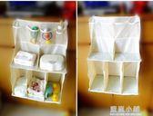 升級版嬰兒床頭大號掛袋新生兒尿布多功能收納袋寶寶尿片整理架 藍嵐