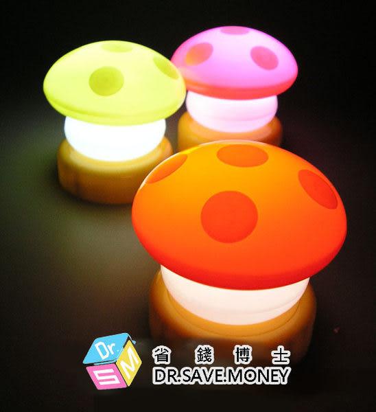 蘑菇拍拍燈/香菇公仔小燈夜燈裝飾小夜燈 床頭燈(隨機色) 49元