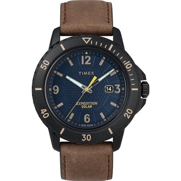 【TIMEX】 天美時 遠征系列 太陽能探險手錶 (棕/藍 TXTW4B14600)