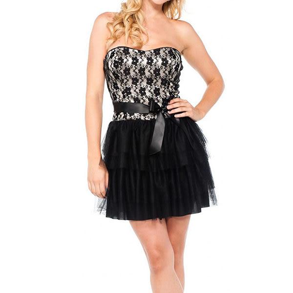 『摩達客』美國進口Landmark 性感浪漫蕾絲篷紗裙派對小禮服/洋裝(含禮盒/附絲巾)(1831395020)
