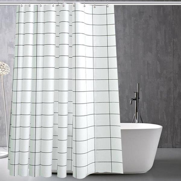衛生間浴簾防水防霉浴簾布簡約浴室簾浴簾套裝免打孔隔斷簾窗簾子zsx