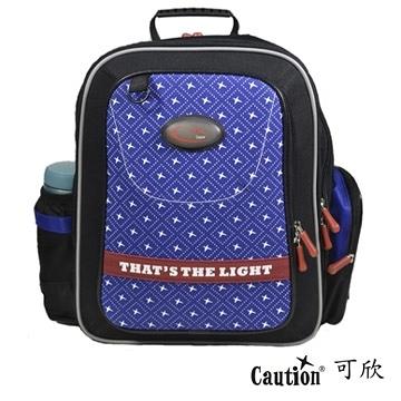 兒童 學生 書包(護脊) Caution可欣 1018 藍/紅(福利品)