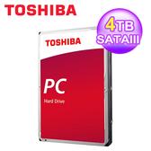 【TOSHIBA 東芝】桌上型硬碟 4TB 3.5吋 SATAIII 內接式轉硬碟 (DT02ABA400)