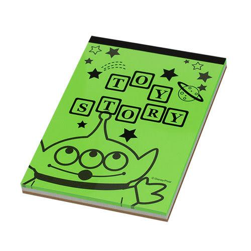 DISNEY玩具總動員日本製B7便條本(螢光)funboxsun-star_UA54148