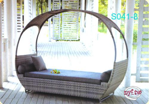 【南洋風休閒傢俱】設計單椅系列- 瓦倫西亞躺椅床(含墊) 戶外躺床 戶外躺椅 (HC-018)