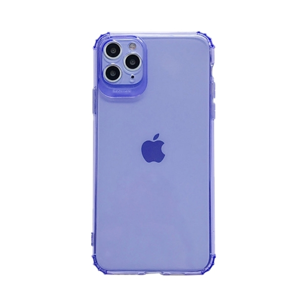 螢光色 彩色透明 四角防撞 簡約 防摔殼 iPhone 12 mini Pro Max 蘋果 手機殼