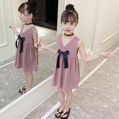 洋裝 女童棉麻連衣裙夏裝2018新款韓版女孩夏季背心公主裙兒童洋氣裙子【全館免運限時八折】