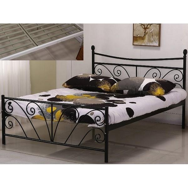 床架 床台 鐵床 SB-598-2 丹尼5尺黑色雙人鐵床 (不含床墊) 【大眾家居舘】