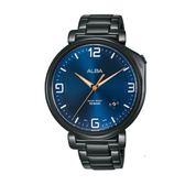 ALBA雅柏 新上市廣告款情人對錶推薦 VJ42-X270SD(AS9H47X1)黑X藍
