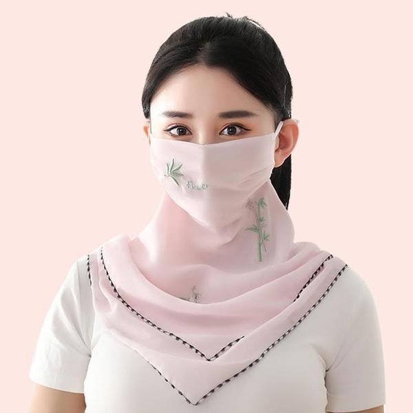 夏季防曬面罩女薄款透氣夏天防紫外線口覃護頸大口罩遮陽全臉面紗