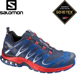 【SALOMON 索羅門 男款 XA PRO 3D GORE-TEX 野跑鞋〈深藍/紅〉】366791/休閒鞋/登山鞋/運動鞋★滿額送