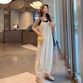 漂亮小媽咪 韓系 連身褲 【P7531】 吊帶褲 寬鬆 長褲 背帶褲 孕婦可穿 []
