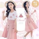 甜美時尚五角星格紋假2件洋裝-熱賣追加到...