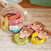 萌物兒童扎頭發飾品70件套裝甜美皮筋發繩頭繩羊角辮發圈盒裝頭飾【卡米優品】