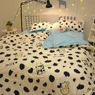 簡約床上用品1.5米四件套 學生男女宿舍床單被套寢室【端午節好康89折】