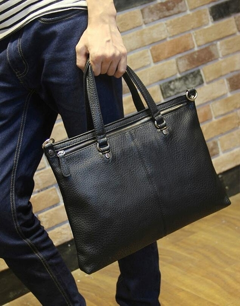FINDSENSE Z1 韓國 時尚 潮 男 荔枝紋 手提包 斜背包 單肩包 側