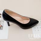 現貨 OL上班鞋尖頭系列8公分 上班族約會必備 素面尖頭高跟鞋 21-26 EPRIS艾佩絲-氣質黑