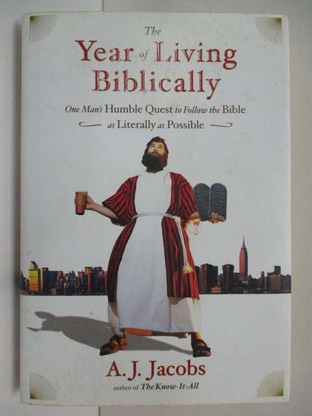 【書寶二手書T1/宗教_DM2】The Year of Living Biblically: One Man's Humble…