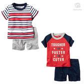 嬰幼兒短袖套裝 男童上衣+短褲 baby套裝 童裝 LZ20316 好娃娃