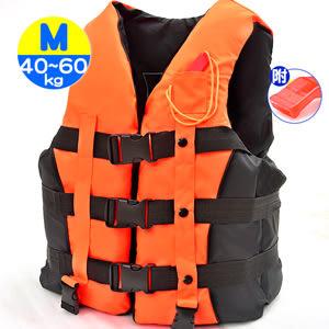 雙跨帶螢光浮力衣M(附口哨子)加厚成人浮潛衣.專業浮力背心.救生衣游泳衣漂流衣泳裝浮板推薦