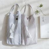 棉麻布藝條紋抽紙袋可掛紙巾袋車載紙巾盒~