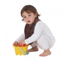 紐西蘭 Mum 2 Mum 機能型神奇口水巾圍兜-寶寶款-巧克力 吃飯衣 口水衣 防水衣