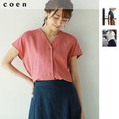 女襯衫 尼亞加拉V領罩衫 免運費 日本品牌【coen】