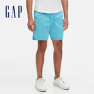 Gap 男裝 簡約抽繩鬆緊休閒短褲 574068-藍色