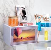 免打孔廁所吸盤式防水創意紙巾盒xx488【VIKI菈菈】
